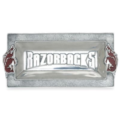 Arthur Court Designs University of Arkansas Metal Tray