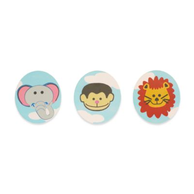 Studio Arts Kids Jungle Room 3-Piece Hook Set