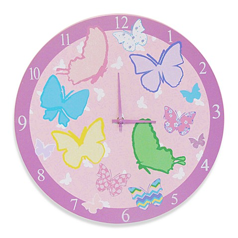 Studio Arts Kids Free to Fly Wooden Wall Clock