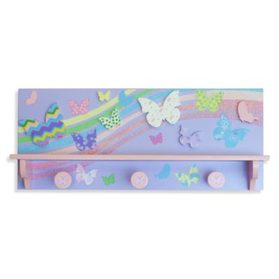 Studio Arts Kids Free to Fly Wall Shelf with Hooks