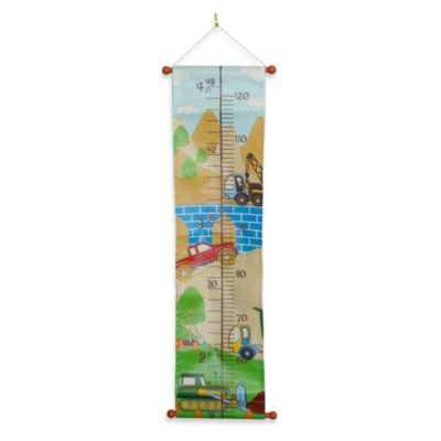 Studio Arts Kids Keep on Truck in Printed Fabric Growth Chart