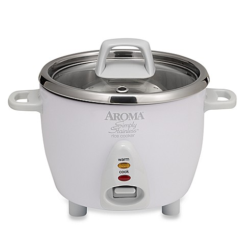 Aroma® Simply Stainless™ 6-Cup Rice Cooker