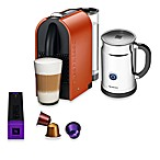 Nespresso® U Espresso Maker and Aeroccino Plus Bundle in Pure Orange