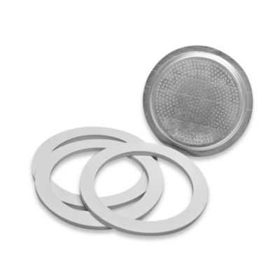Bialetti® Replacement Gaskets and Filter Set for Bialetti® Moka Express 6-Cup Espresso Maker