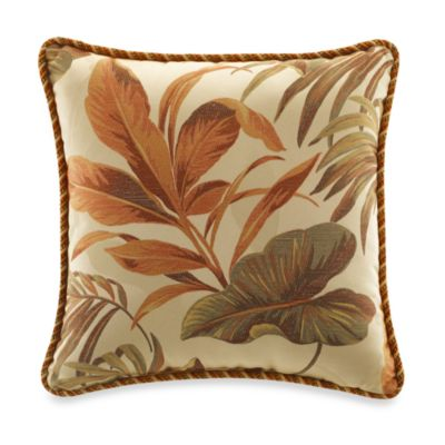 Croscill Bali Breeze 18-Inch Square Toss Pillow