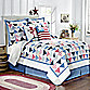 Triangle Stripe Bed Skirt