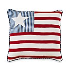 Triangle Stripe American Flag Square Toss Pillow