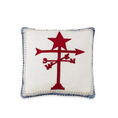 Triangle Stripe Weather Vane Square Toss Pillow
