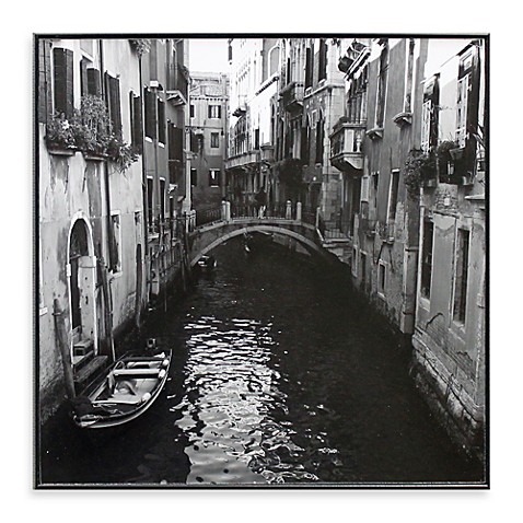 Venice Canal 13-Inch x 13-Inch Photo Print