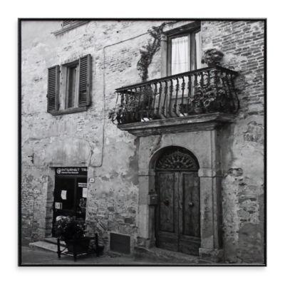 Italian Balcony and Door 13-Inch x 13-Inch Photo Art