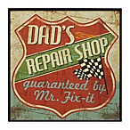 Dad's Repair Shop Mancave IV 13-Inch x 13-Inch Wall Art