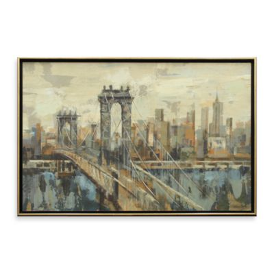 New York View 26-Inch x 38-Inch Wall Art