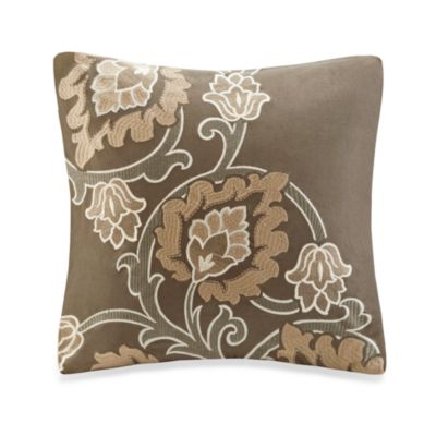 Harbor House™ Lincoln Faux Linen Embroidered 18-Inch Square Toss Pillow