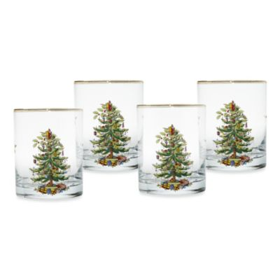 Spode® Christmas Tree 14-Ounce Double Old Fashioned Glasses (Set of 4)