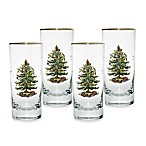 Spode® Christmas Tree 15-Ounce Highball Glasses (Set of 4)
