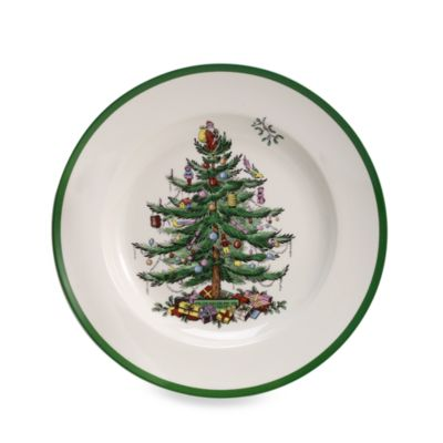 Spode® Christmas Tree 10 1/2-Inch Dinner Plates (Set of 4)