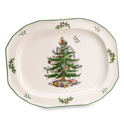 Spode® Christmas Tree 14-Inch Sculpted Oval Platter
