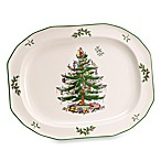 Spode® Christmas Tree 14-Inch Oval Sculpted Platter