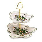 Spode® Christmas Tree Two-Tier Serving Tray