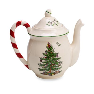 Spode® Christmas Tree Peppermint Teapot