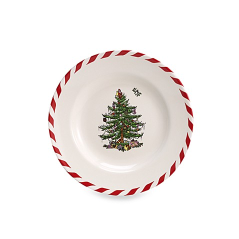 Spode® Christmas Tree Peppermint Canape Plates (Set of 4)