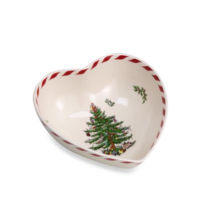 Spode® Christmas Tree 8-Inch Peppermint Heart Bowl