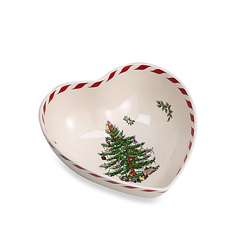 Spode® Christmas Tree Peppermint Heart Bowl