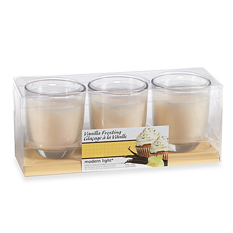 Modern Light® 4.2-Ounce 3-Pack Scented Candles in Vanilla Frosting