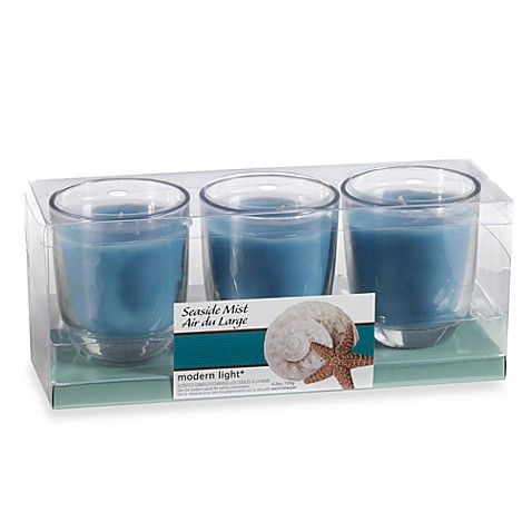 Modern Light® 4.2-Ounce 3-Pack Scented Candles - Seaside Mist