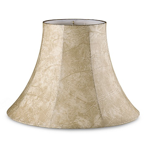 Mix & Match Large 17-Inch Faux Leather Lamp Shade in Beige