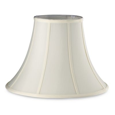 Mix & Match Large 17-Inch Fabric Bell Lamp Shade in Ivory