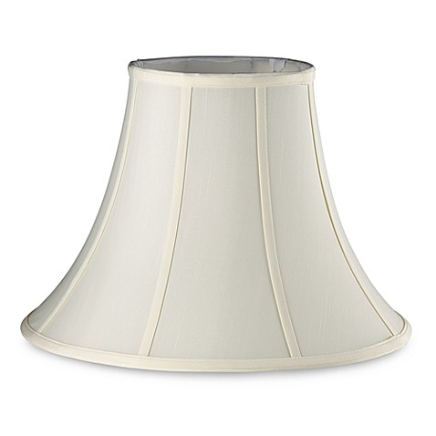 Mix & Match Large 17-Inch Fabric Bell Lamp Shade in Eggshell Ivory
