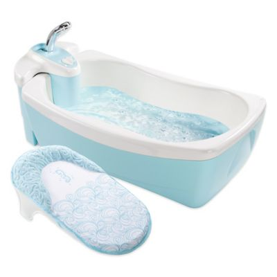 Summer Infant® Lil' Luxuries® Whirlpool BubBling Spa & Shower Bath Tub in Light Blue