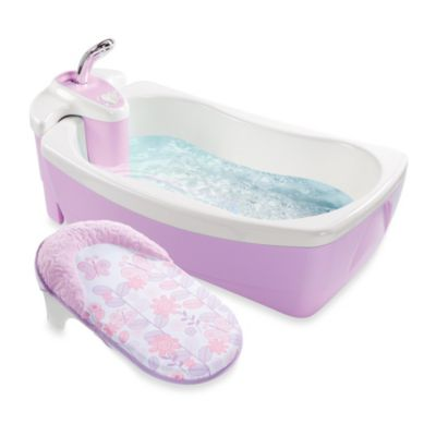 Summer Infant® Lil' Luxuries® Whirlpool BubBling Spa & Shower Bath Tub in Violet