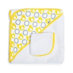 JJ Cole® Hooded Towel in Yellow Ducks