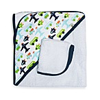 JJ Cole® Hooded Towel in White Vroom