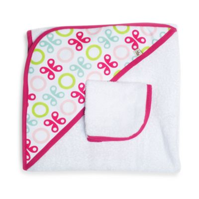 Pink Butterfly Toddler & Kids Bath