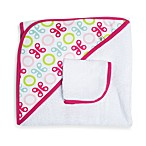 JJ Cole® Hooded Towel in Pink Butterfly