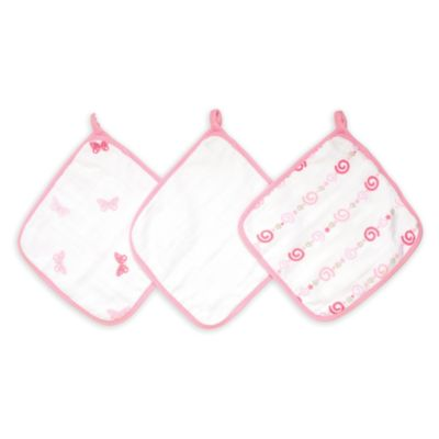 Aden + Anais® 3-Pack Washcloth Bath