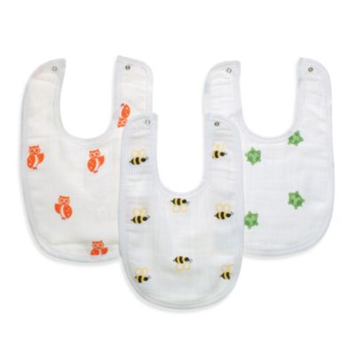 aden® by aden + anais® 3-Pack Bib Set in Life's a Hoot