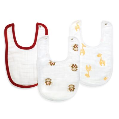 aden™ by aden + anais® 3-Pack Bib Set in Safari Friends