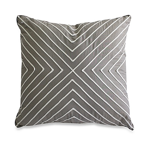 Nostalgia Home Fashions™ Tape Applique Square Throw Pillow