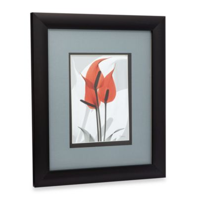 X-Ray Red Floral Art I