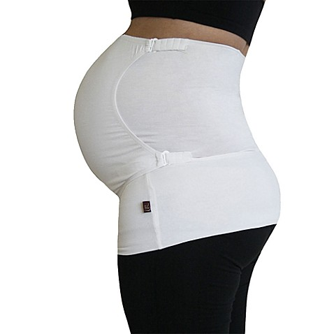 Pure Belly 3-in-1 Pregnancy & Postpartum Small Belly Support Wrap in White