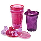 The First Years by Tomy Take & Toss 10-Ounce 4-Pack Spill-Proof Sippy Cup in Pink