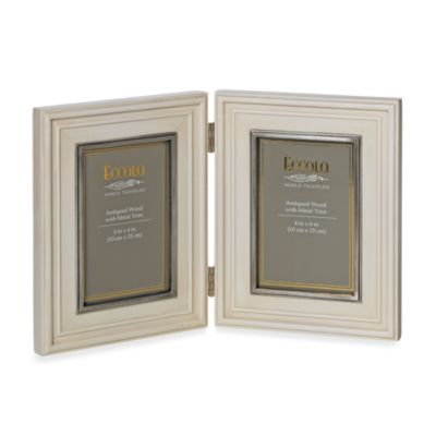 Eccolo™ Double Weathered Ivory Frame with Pewter Inlay