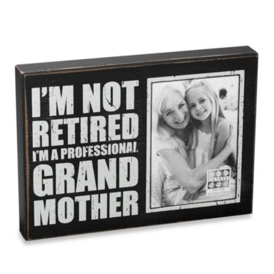 "Sixtrees Sentiment 5-Inch x 7-Inch ""Professional Grandmother"" Black Wood Frame"