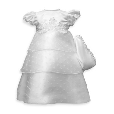 Lauren Madison for Haddad Brothers Christening Organza Gown with Pearl Trim - 6-9 Months