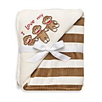 Baby Starters Sock Monkey Blanket - Cream Stripe