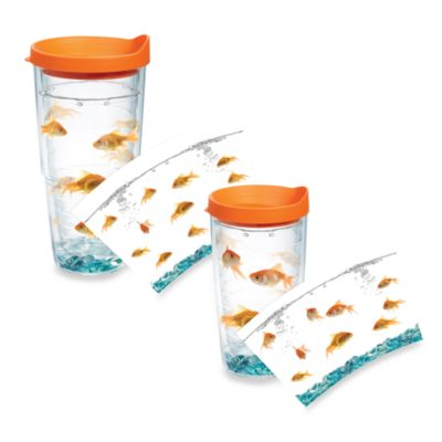 Tervis® Goldfish Wrap Tumblers with Orange Lid